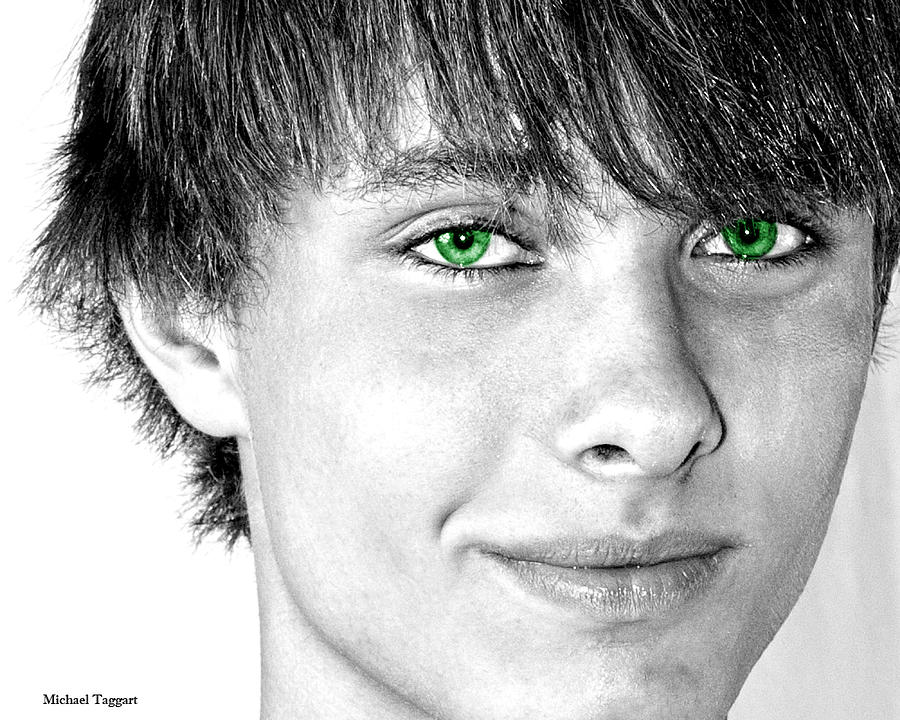 Irish Photograph - Irish Eyes by Michael Taggart