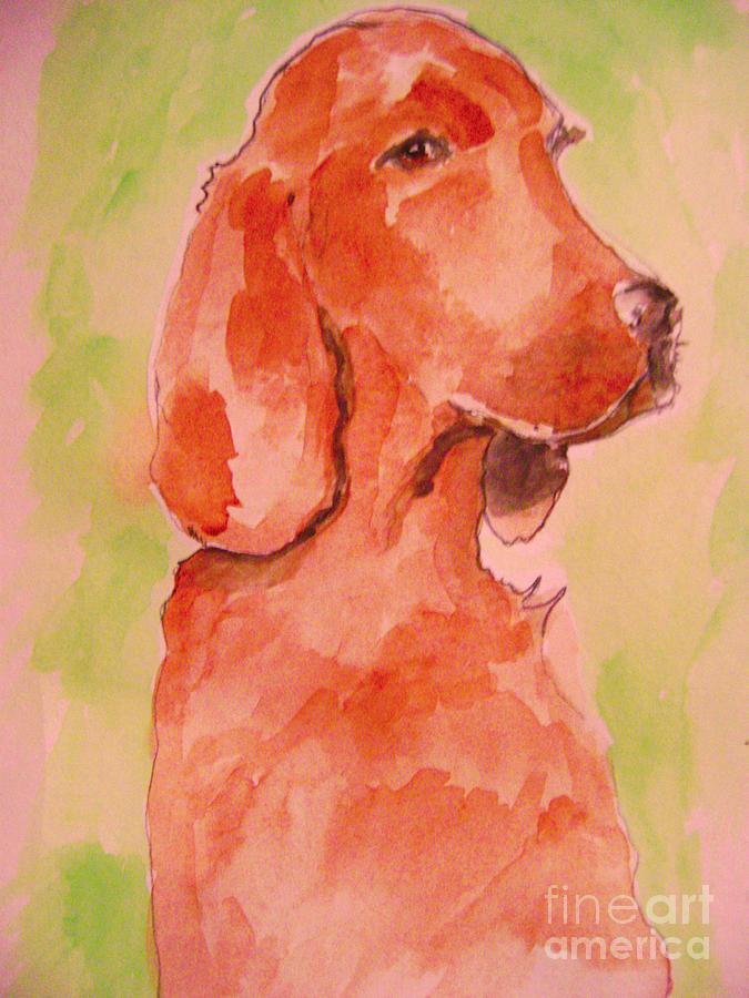 Animals Painting - Irish Setter by Sidney Holmes
