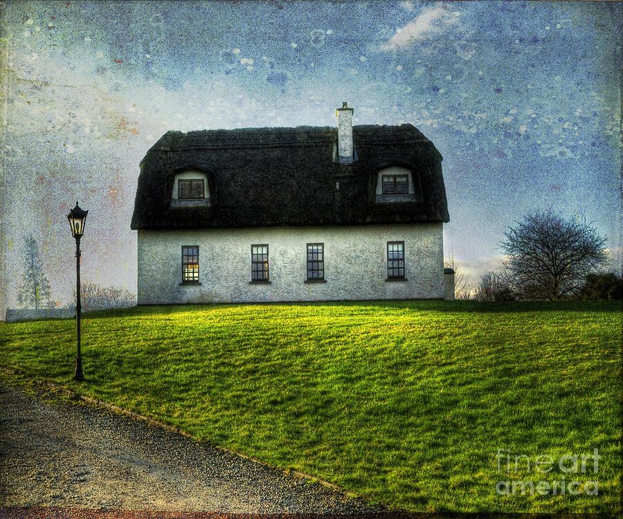 Accommodation Photograph - Irish Thatched Roofed Home by Juli Scalzi