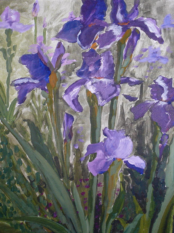 Landscape Painting - Irisis by Valerie Lynch