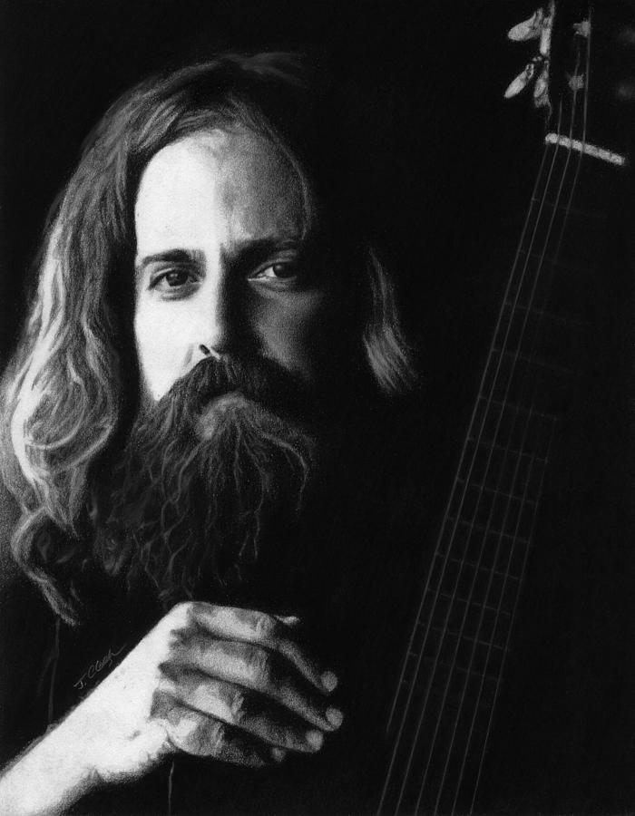 Iron And Wine Drawing - Iron And Wine by Justin Clark