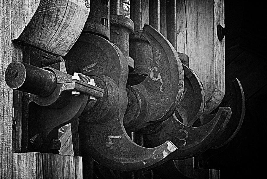 Black And White Photograph - Iron And Wood by Mick Burkey