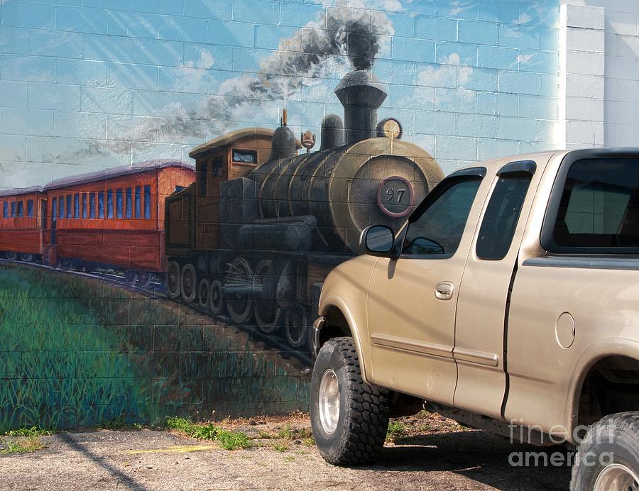 Steam Engine Photograph - Iron Horsepower by Ann Horn