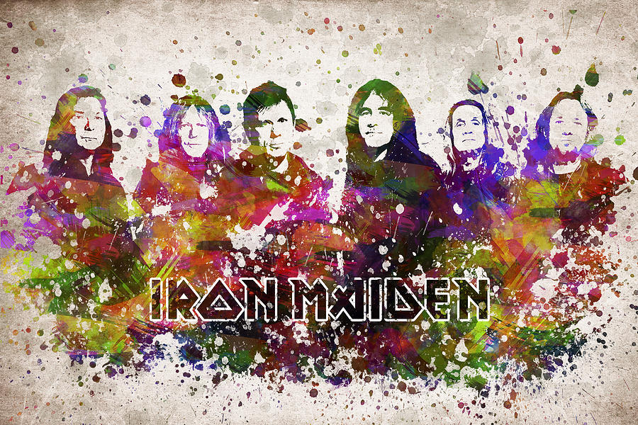 Iron Maiden In Color Digital Art By Aged Pixel
