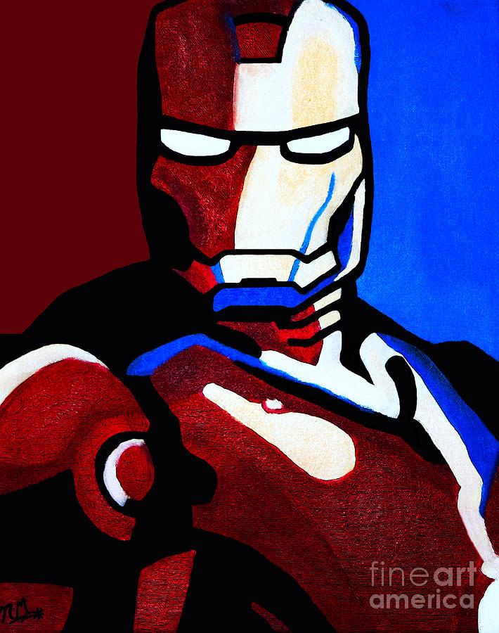Ironman Painting - Iron Man 2 by Barbara McMahon