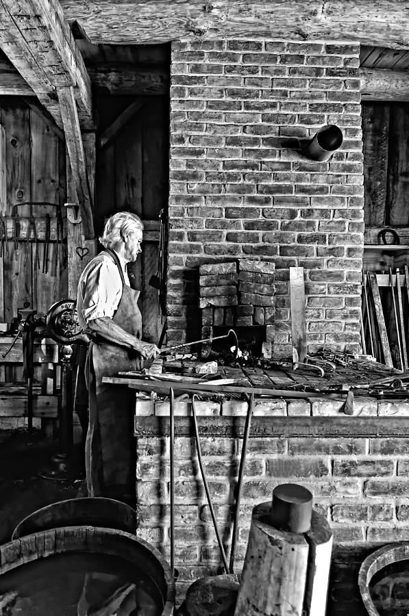 Blacksmith Photograph - Iron Man Monochrome by Steve Harrington