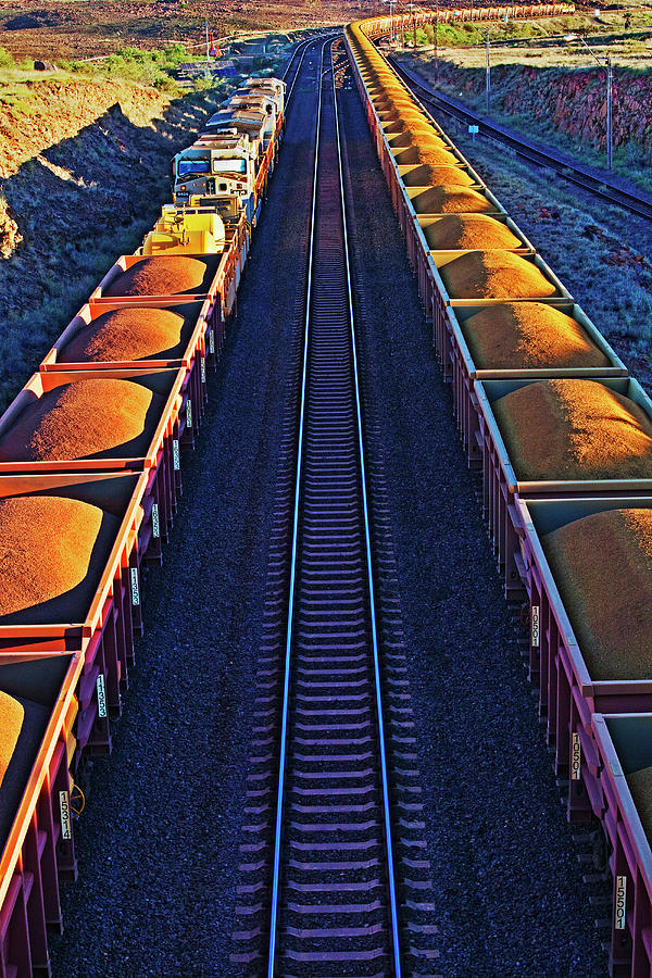 Iron Ore Train, Karratha. Western Photograph by John W Banagan