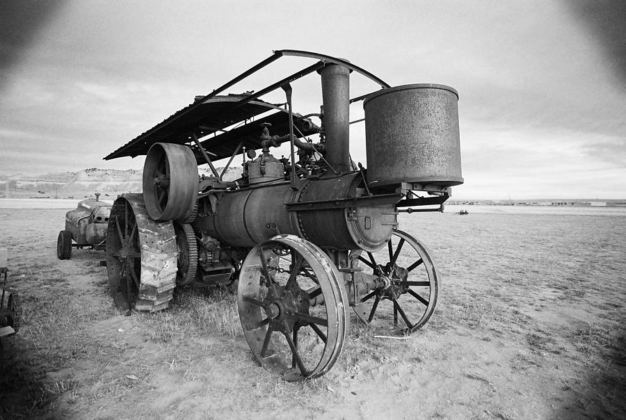 Tractor Photograph - Iron Wheels And Steam by HW Kateley