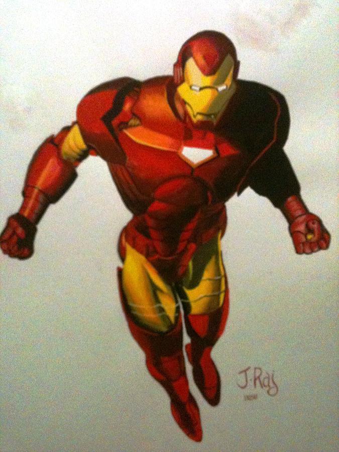 Comic Painting - Ironman by Kumar Rajeswaran