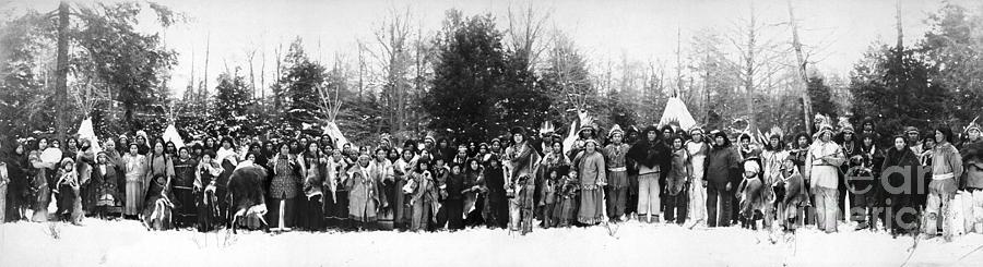 1914 Photograph - Iroquois Group C1914 by Granger