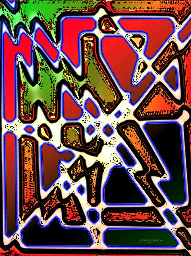 Abstract Digital Art - Irregular Lines In Abstract Design by Mario Perez