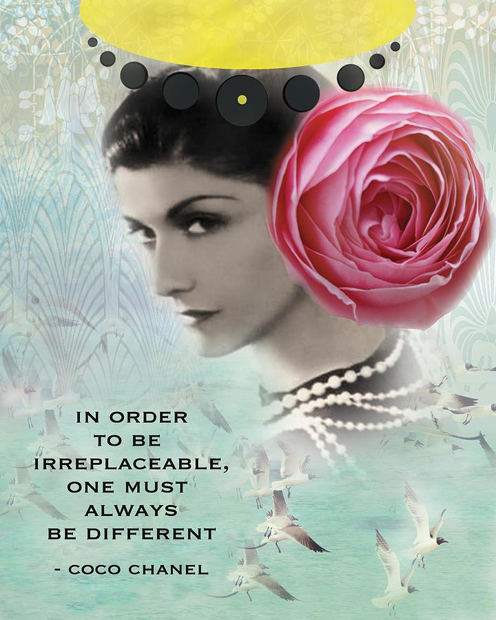 Coco Chanel Digital Art - Irreplacable by Sivitri  Multimedia
