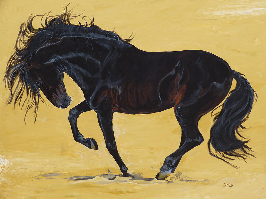 Horse Original Painting Painting - Irresistible by Janina  Suuronen