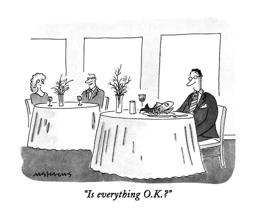 Is Everything O.k.? Drawing by Mick Stevens