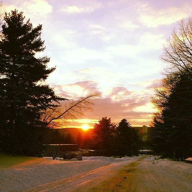 Sunset Photograph - Is It Bad To Jump Out Of Your Car In by Erica Lubee