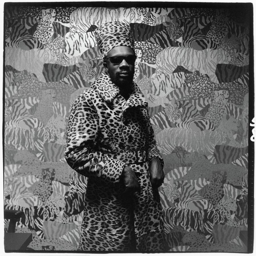 Isaac Hayes Wearing Leopard Print Photograph by Peter Hujar