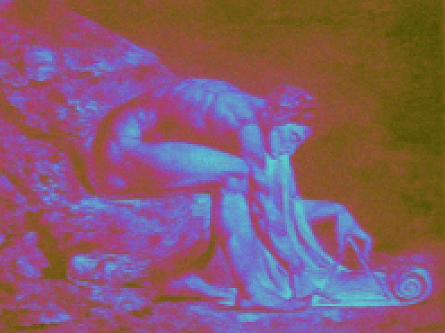 Isaac Newton By William Blake. Enhanced Digital Art