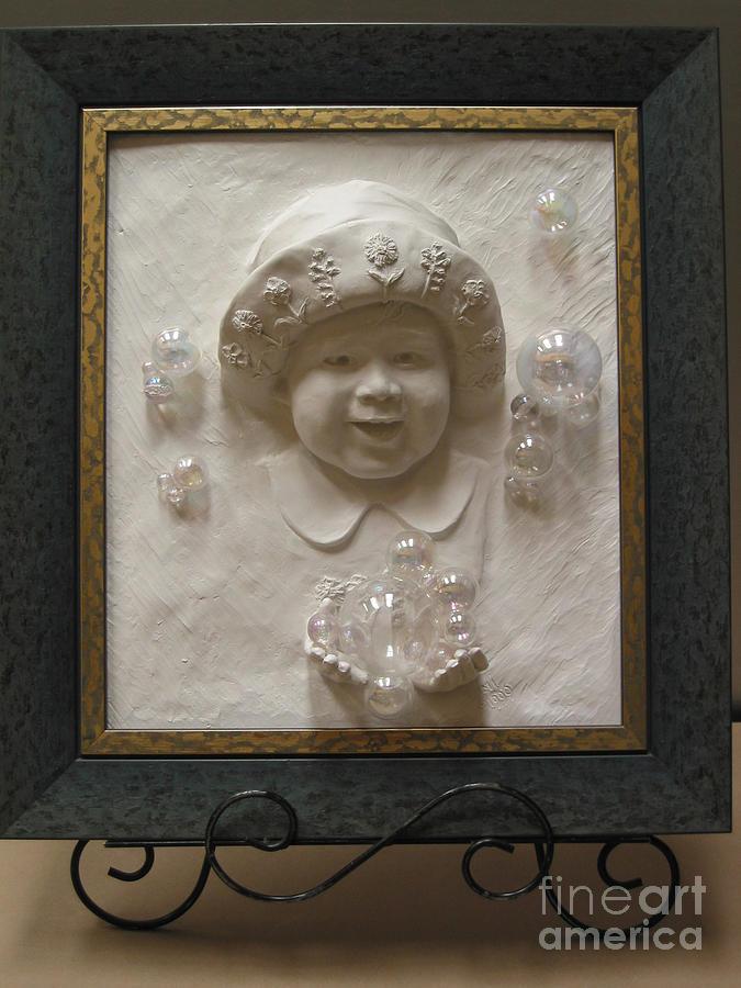 Child Sculpture - Isabel Joy by Tomi LaPierre