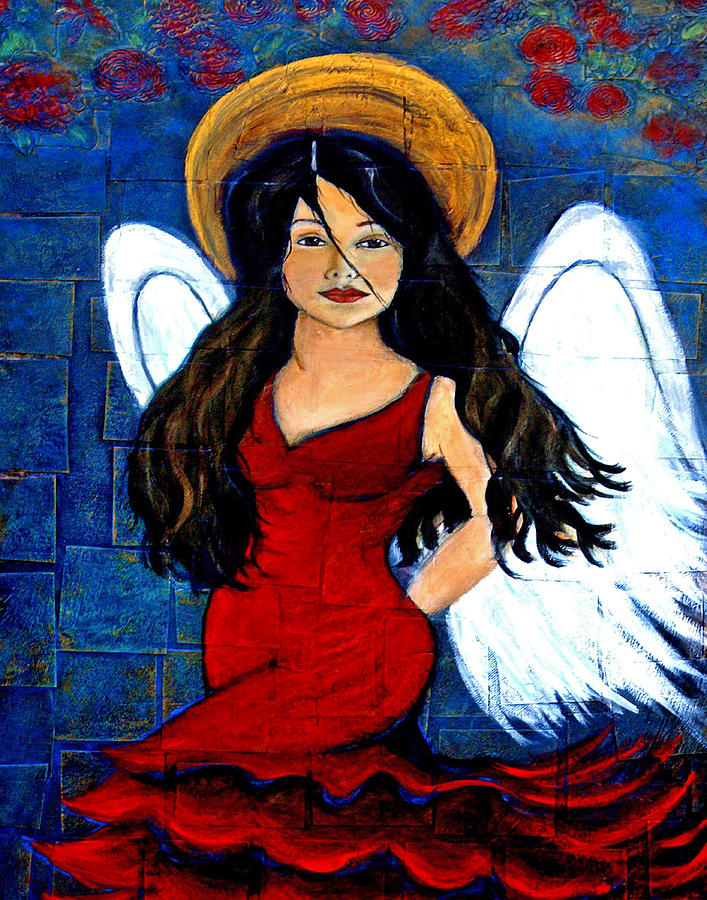 Spanish Painting - Isabella  A Spanish Earth Angel From Cultures Around The World by The Art With A Heart By Charlotte Phillips