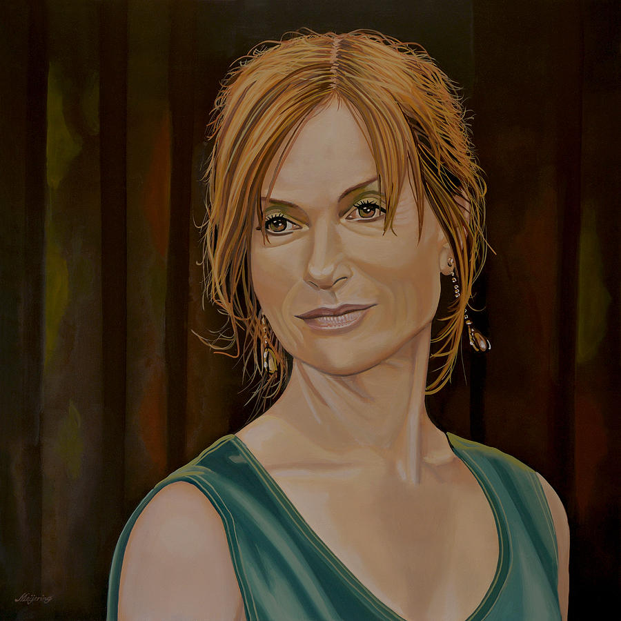 Isabelle Huppert Painting - Isabelle Huppert Painting by Paul Meijering