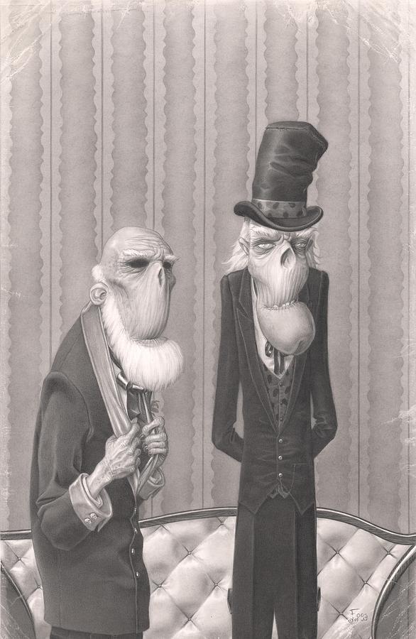 Halloween Painting - Isaiah And Bartholomew by Richard Moore