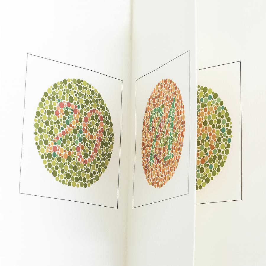 Ishihara Colour Vision Test Charts Photograph By Science Photo Library