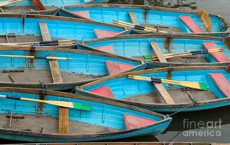 England Photograph - Isis rowing boats by OUAP Photography