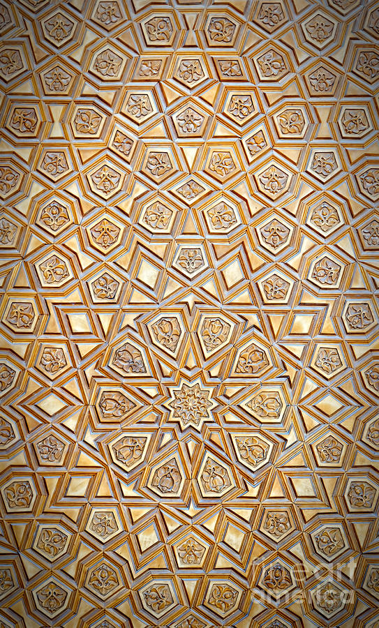 large geometric pattern wallpaper