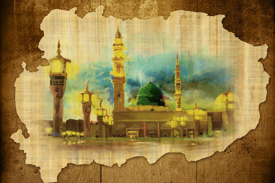 Islamic Painting - Islamic Calligraphy 035 by Catf