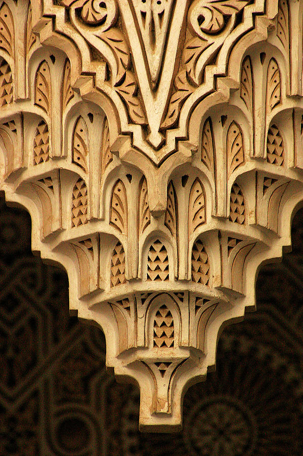 Morocco Photograph - Islamic Plaster Work by PIXELS  XPOSED Ralph A Ledergerber Photography