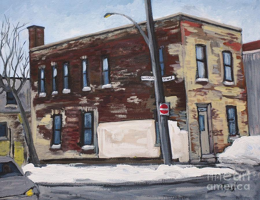 Old Buildings Painting - Island And St. Patrick Pointe St Charles by Reb Frost