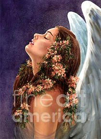 Angel Painting - Island Angel by Wendy Froshay