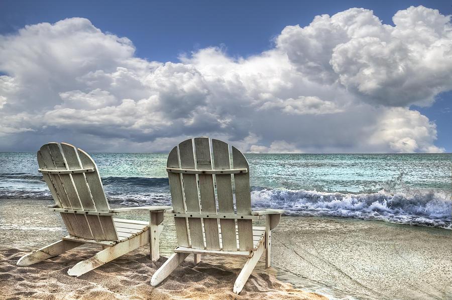 Clouds Photograph - Island Attitude by Debra and Dave Vanderlaan