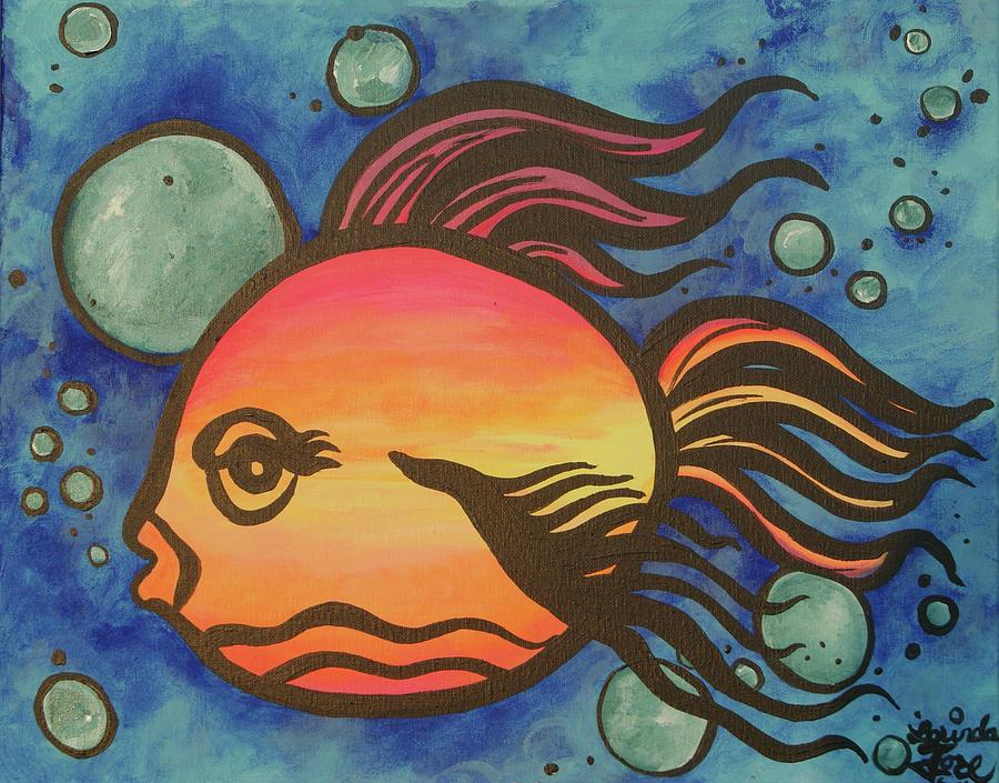 Fish Painting - Island Fish by Lorinda Fore
