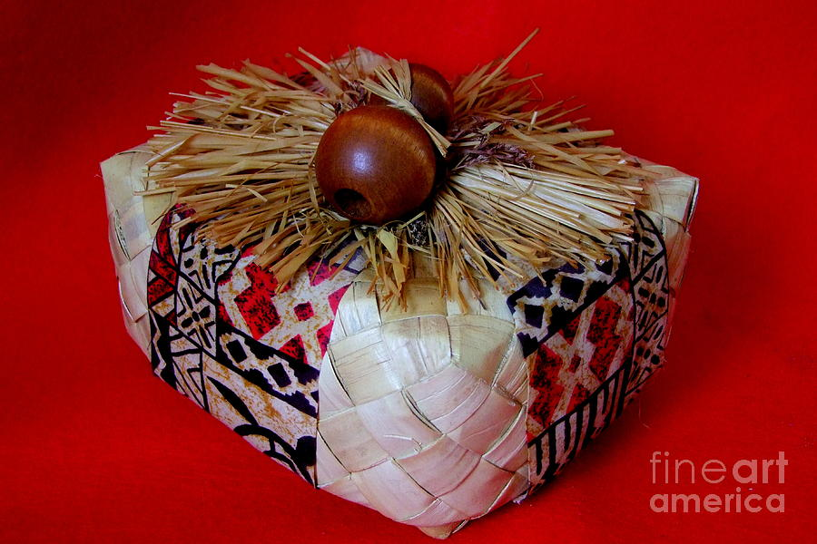 Christmas Photograph - Island Gift Box With Ipu by Mary Deal