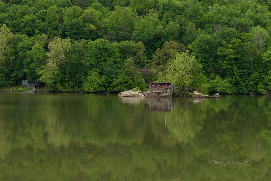 Feature Photograph - Island House On New River - West Virginia by Paulette B Wright