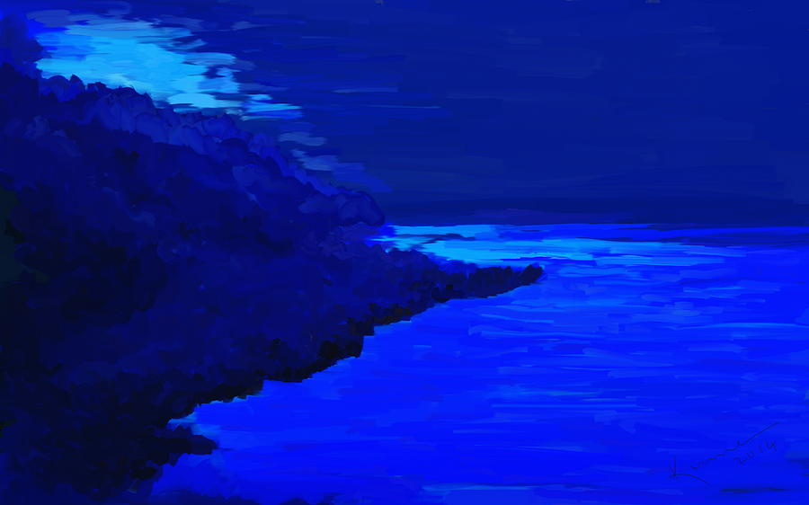 Blue Painting - Island by Kume Bryant