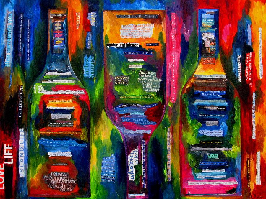 Wine Painting - Island Life by Patti Schermerhorn