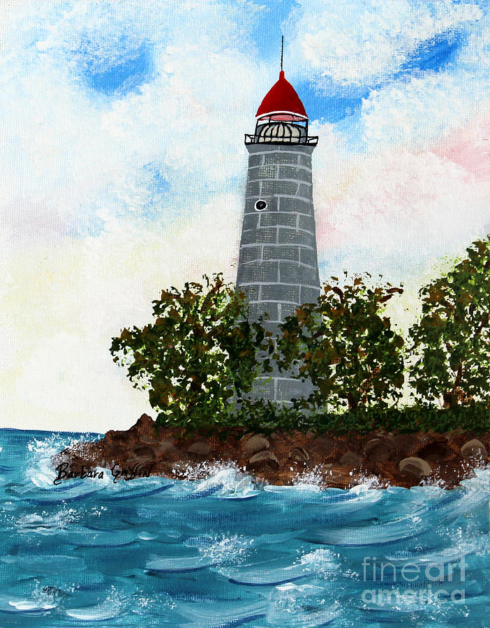 Barbara Griffin Painting - Island Lighthouse by Barbara Griffin