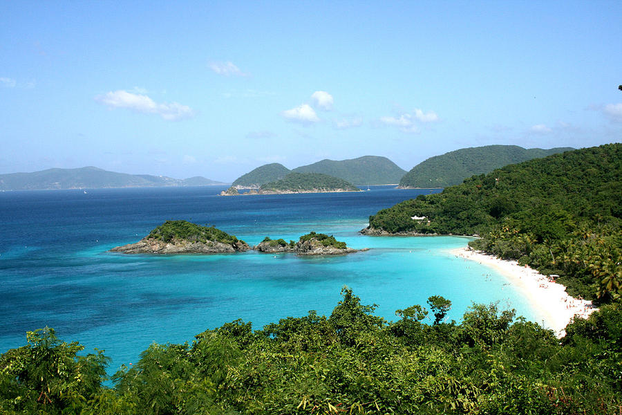 Caribbean Sea Photograph - Island Shore Trunk Bay by Sharon McLain
