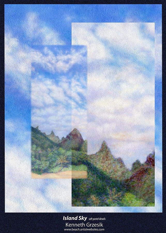 Kauai Digital Photograph - Island Sky Details by Kenneth Grzesik