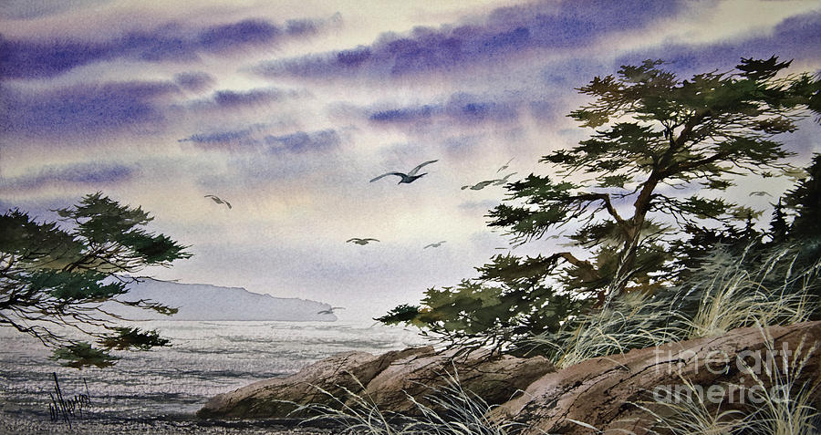 Island Sunset Painting by James Williamson