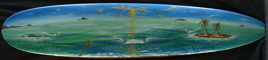 Island Surf Dreams Painting by Paul Carter