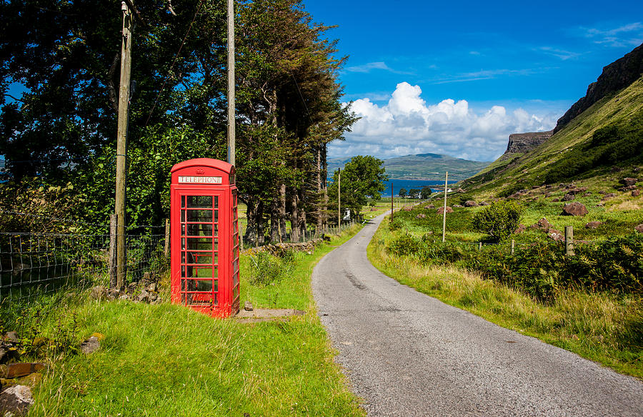 Scotland Photograph   Traditonal British Telephone Box On The Isle Of Mull  By Max Blinkhorn