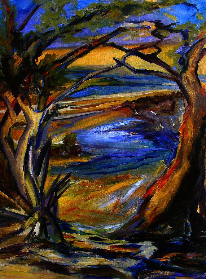 Trees Painting - Island Waters St. Kitts by Julianne Felton