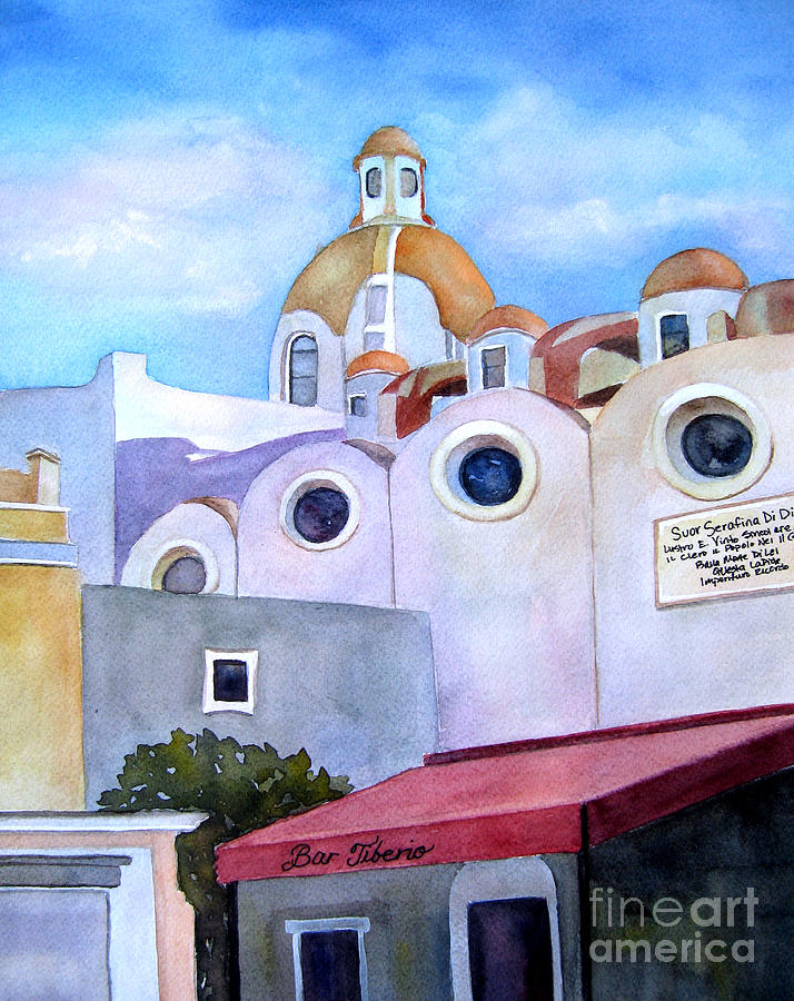 Isle of Capri - Church by Vicki Brevell