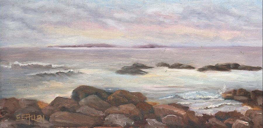 Isles Of Shoals Painting - Isles of Shoals from Odiorne Point by Sharon E Allen