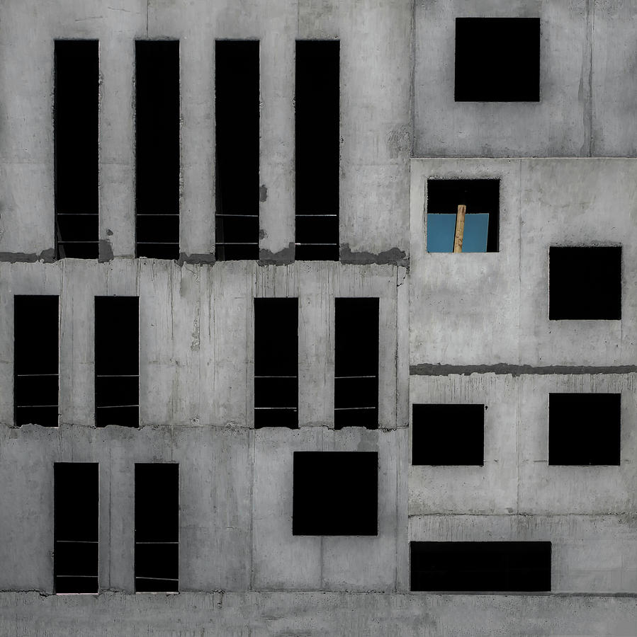 Concrete Photograph - Isolation Cell by Gilbert Claes