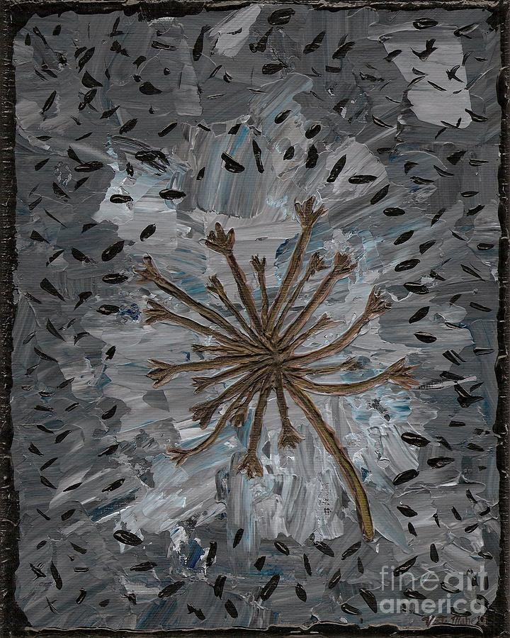 Loneliness Painting - Isolation Vacuus Vos by Vicki Maheu