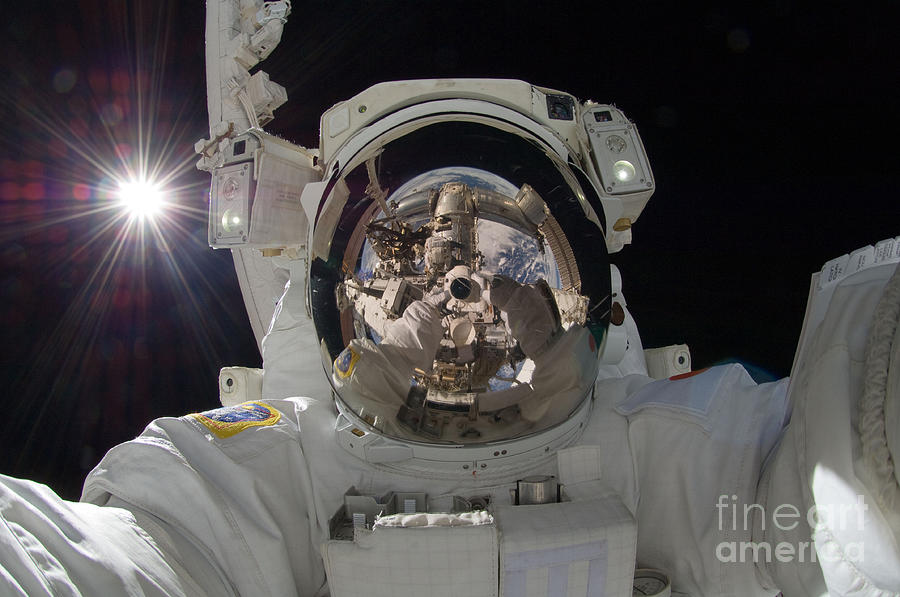 Space Photograph - Iss Expedition 32 Spacewalk by Nasa Jsc